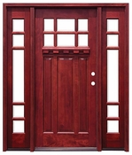 Pacific Entries  -  Craftsman Series Door  -  6 Lite Bevel Glass  - M36 - With Sidelites