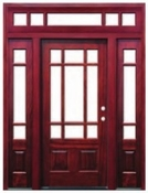 Pacific Entries  -  Craftsman Series Door  -  6 Lite Bevel Glass  - Transom