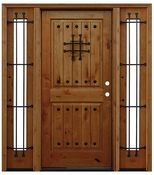 Pacific Entries  -  Rustic Alder  -  2 Panel Door  - A42 - With Sidelites