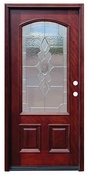Pacific Entries  -  Traditional Series Door  -  3/4 Arched Strathmore Zinc Caming Lite  - M63
