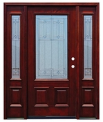 Pacific Entries  -  Traditional Series Door  -  3/4 Diablo Zinc Caming Lite  - M62 - With Sidelites
