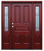 Pacific Entries  -  Traditional Series Door  -  5 Raised Panels  - M65 - With Diablo Sidelites