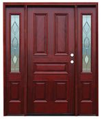 Pacific Entries  -  Traditional Series Door  -  5 Raised Panels  - M65 - With Strathmore Sidelites