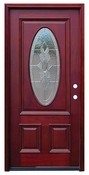 Pacific Entries  -  Traditional Series Door  -  Strathmore Oval Zinc Caming Lite  - M64
