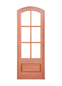 Prestige Entries - 6 Lite 1 Panel Arch Top - 3680-M7231A-PH6 - Pre-Hung