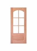 Prestige Entries - 6 Lite 1 Panel Square Top with Top Rail Arch - 3068-M7231ST