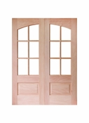 Prestige Entries - 6 Lite 1 Panel Square Top with Top Rail Arch - 5068-M7231SP