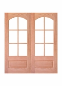 Prestige Entries - 6 Lite 1 Panel Square Top with Top Rail Arch - 6068-M7231ST