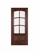 Prestige Entries - 6 Lite 2 Panel with Curved TDL and raised moulding one side - 3068-M7232TRAC