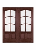 Prestige Entries - 6 Lite 2 Panel with Curved TDL and raised moulding one side - 6068-M7232TRAC