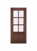 Prestige Entries - 6 Lite 2 Panel with raised moulding one side - 3068-M7232