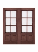 Prestige Entries - 6 Lite 2 Panel with raised moulding one side - 6068-M7232