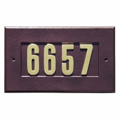 "Qualarc - Manchester Address Plate w/3"" gold brass numbers (numbers included) - ADD-1410-AC"