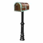 Qualarc - Provincial Collection Brass Mailbox - MB-3000-PAT-HP700-BL