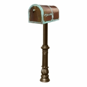 Qualarc - Provincial Collection Brass Mailbox - MB-3000-PAT-HP700-BZ