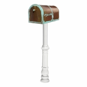 Qualarc - Provincial Collection Brass Mailbox - MB-3000-PAT-HP700-WHT