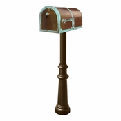 Qualarc - Provincial Collection Brass Mailbox - MB-3000-PAT-HP800-BZ