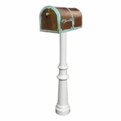 Qualarc - Provincial Collection Brass Mailbox - MB-3000-PAT-HP800-WHT