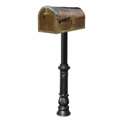 Qualarc - Provincial Collection Brass Mailbox - MB-3000-POL-HP700-BL