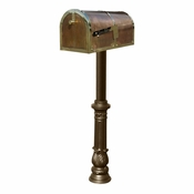 Qualarc - Provincial Collection Brass Mailbox - MB-3000-POL-HP700-BZ