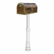 Qualarc - Provincial Collection Brass Mailbox - MB-3000-POL-HP700-WHT