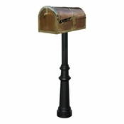 Qualarc - Provincial Collection Brass Mailbox - MB-3000-POL-HP800-BL