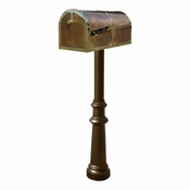 Qualarc - Provincial Collection Brass Mailbox - MB-3000-POL-HP800-BZ