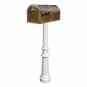 Qualarc - Provincial Collection Brass Mailbox - MB-3000-POL-HP800-WHT