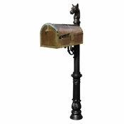 Qualarc - Provincial Collection Brass Mailbox - MB-3000-POL-LP701-BL