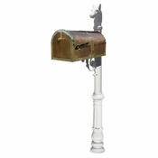 Qualarc - Provincial Collection Brass Mailbox - MB-3000-POL-LP701-WHT