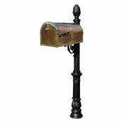Qualarc - Provincial Collection Brass Mailbox - MB-3000-POL-LP703-BL