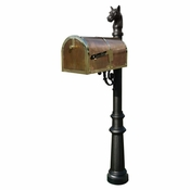 Qualarc - Provincial Collection Brass Mailbox - MB-3000-POL-LP801-BL