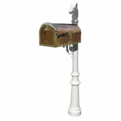 Qualarc - Provincial Collection Brass Mailbox - MB-3000-POL-LP801-WHT