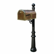 Qualarc - Provincial Collection Brass Mailbox - MB-3000-POL-LP804-BL