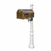 Qualarc - Provincial Collection Brass Mailbox - MB-3000-POL-LP804-WHT