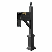 Qualarc - Westhaven System with Lewiston Mailbox - WPD-SB1-S3-LMC-BLK