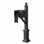 Qualarc - Westhaven System with Lewiston Mailbox - WPD-SB1-S4-LMC-BLK