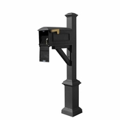 Qualarc - Westhaven System with Lewiston Mailbox - WPD-SB1-S7-LMC-BLK