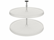 "Rev-A-Shelf - 3072-24-11-52 - 24"" White Polymer Full Cir Lazy Susan 2-Shelf"