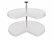 "Rev-A-Shelf - 3472-32-11-52 - 32"" White Polymer Kidney Lazy Susan set"