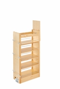 "Rev-A-Shelf - 448-TP43-14-1 - 14"" W X 43"" H Wood Pantry Pullout Soft Close"