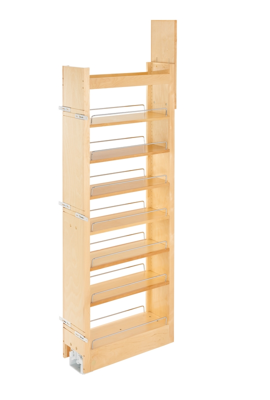 Rev A Shelf 448 Tp58 5 1 5 Quot W X 58 Quot H Wood Pantry