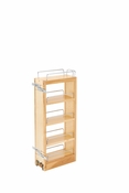 "Rev-A-Shelf - 448-WC-5C - 5"" Wood Pull Out Wall Cabinet Organizer"