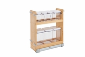 "Rev-A-Shelf - 448OXO-BCSC-8C - 8"" Base Cabinet Organizer w/ OXO Containers SC"