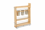 "Rev-A-Shelf - 448UT-BCSC-5C - 5"" Base Cabinet Organizer w/ 3 Utensil Bins"