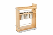 "Rev-A-Shelf - 448UT-BCSC-8C - 8"" Base Cabinet Organizer w/ 3 Utensil Bins"
