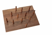 Rev-A-Shelf - 4DPS-WN-3021 - Medium 30 x 21 Wood Peg Board System w/ 12 pegs