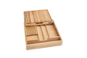 "Rev-A-Shelf - 4KCB-24SC-1 - 24"" Knife and Cutting Board Drawer Kit Soft Close"