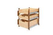 "Rev-A-Shelf - 4PIL-18SC-3 - 15"" Wood Pilaster System Kit"