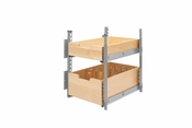 "Rev-A-Shelf - 4PIL-18SC-SV-2 - 15"" Wood Pilaster System Kit"